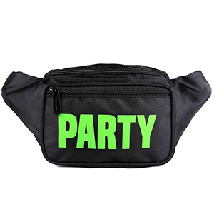 Black Party Fanny Pack Neon Packs For Man Woman Waist Bag Fashion Belt Bags