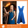 A Game of Thrones Daenerys Targaryen blue Dress Cosplay Costume for adult women