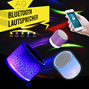 Portable Mini Flashing LED Waterproof Bluetooth Speakers Wireless Dj Bass Music Audio TF USB FM Stereo Sound Speaker with Mic
