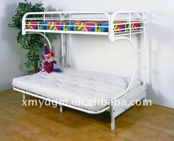 C Futon Bunk Bed In White Double And Sofa Mlbk 13