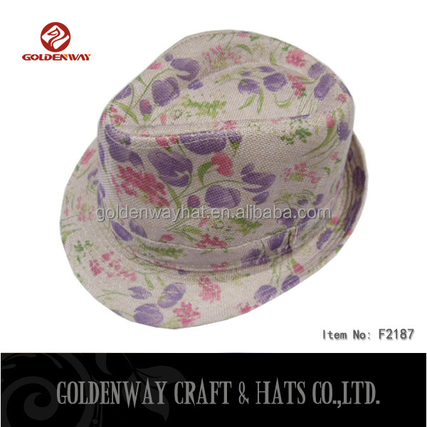 New arrival Women fedora hat with flower