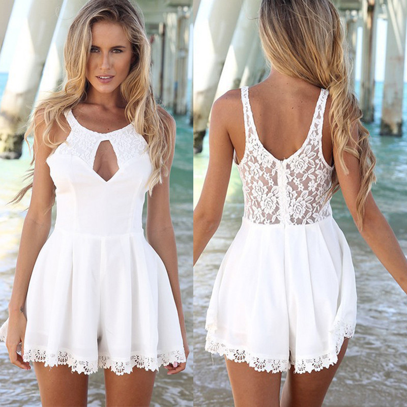 Women Summer Dress 2015 New White Pink S M L Xl