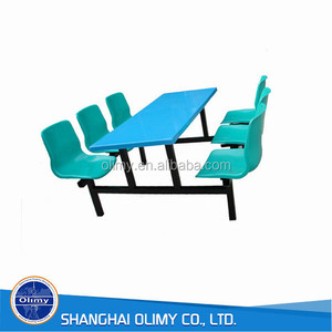restaurant chair fiberglass canteen table and chairs