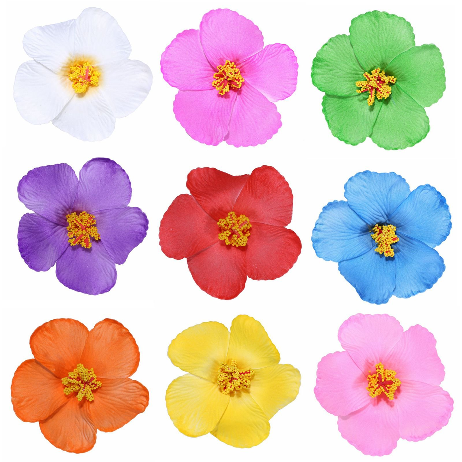 Cheap hibiscus flower clip find hibiscus flower clip deals on line get quotations youbami 35 hawaiian hibiscus foam flower hair clips for luau party favor event decoration set izmirmasajfo
