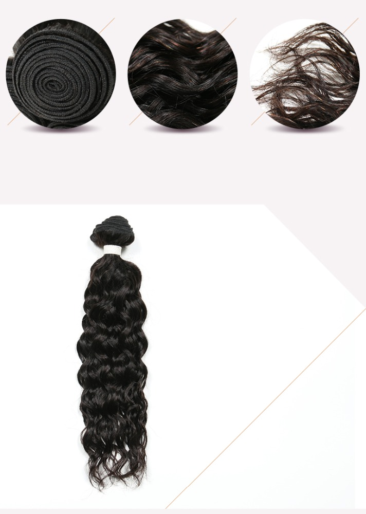 Brazilian Virgin Hair 4 Bundles Brazilian Water Wave Wet And Wavy Human Hair Weave Curly Hair Extensions 400g