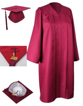 c3e7cbede58 Maroon- Graduation Cap Gown 100% Matt Polyester University Gown ...