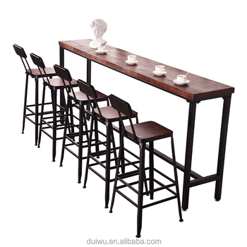 Wholesale Industrial Bar Furniture Wrought Iron High Tables And