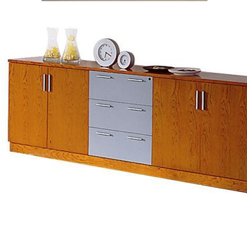 China Manufacturer Bieya Low Cabinet/ Wooden Credenza Filing Cabinet Filing  Storage