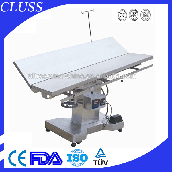 Stainless Steel Veterinary Operation Table with Electrical System