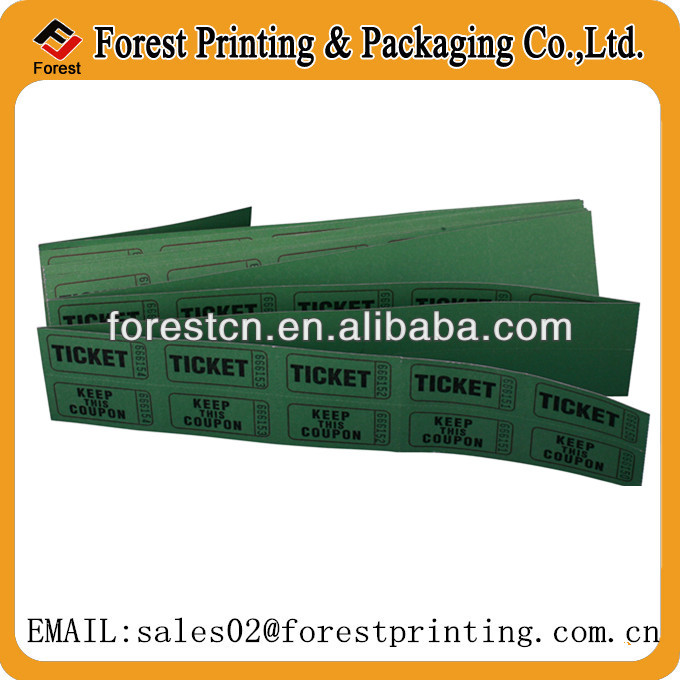 perforation double line raffle ticket coupon ticket ticket roll