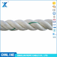 CHNLINE 2017 floating 3strand White twist polypropylene rope price