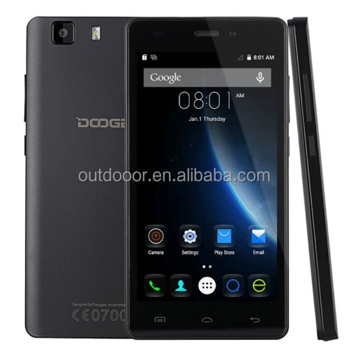 DOOGEE X5 5.0 inch Android 5.1 Smart Phone, MT6580 Quad Core 3G cheap China brand phone