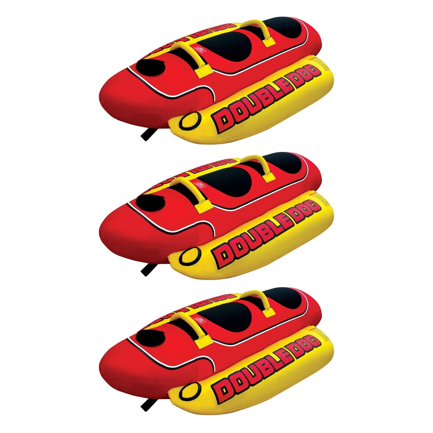 7602a59e60c Get Quotations · AIRHEAD HD-2 Hot Dog Double Rider Towable Inflatable Boat  Lake Tube 1-2