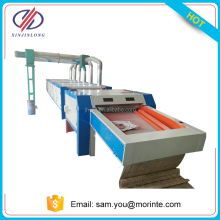 Textile fabric waste recycling machine with six roller