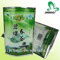 Hot Sales biodegradable tea packaging stand up plastic zipper bag