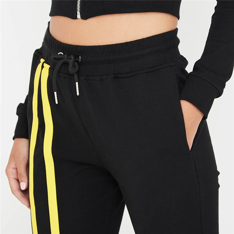 Nach frauen Striped Zipper Mit Kapuze Pullover Bandage Hosen gym Trainingsanzug