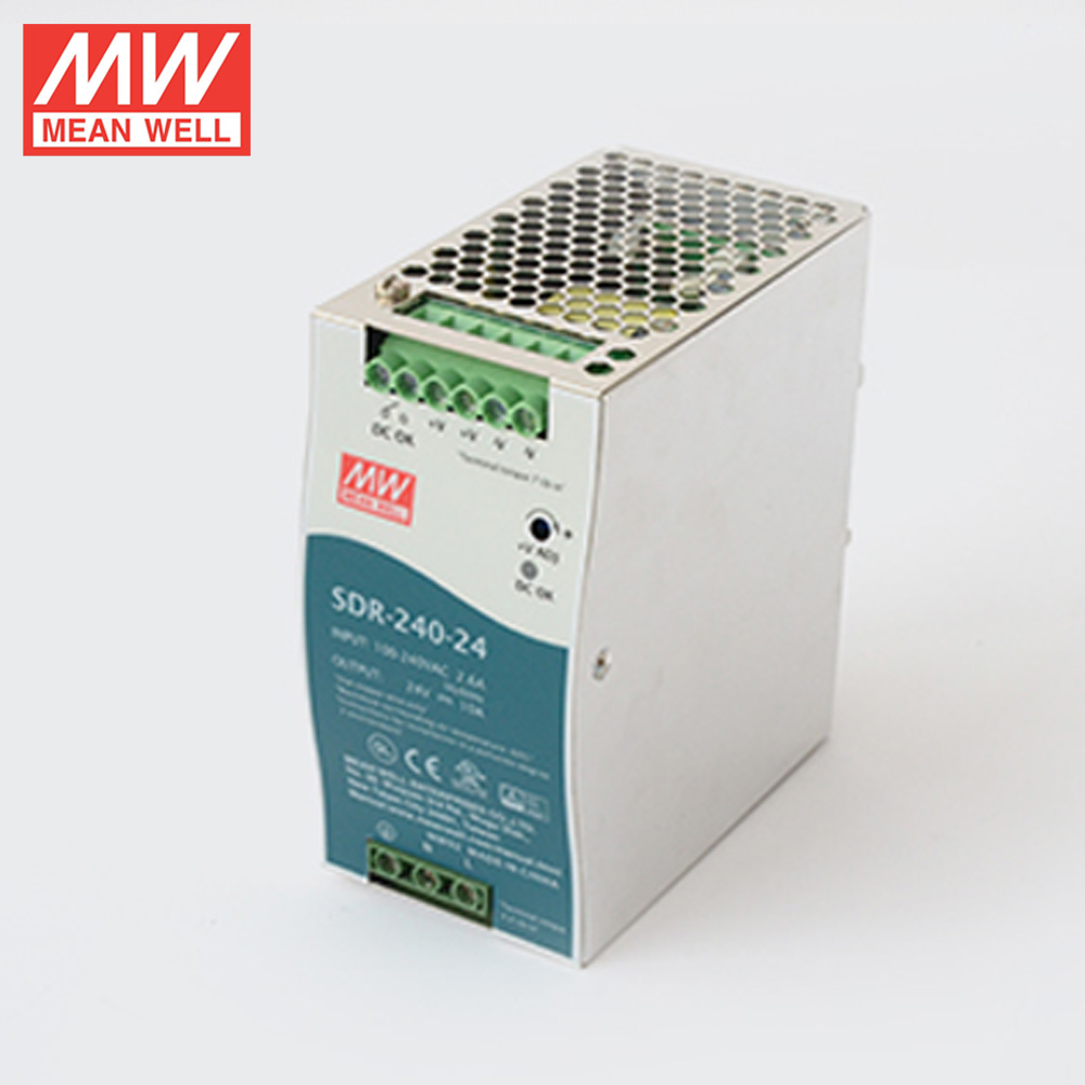 Meanwell 240w 24v 10a Din Rail Power Supply Sdr-240-24 With Pfc Function -  Buy 240w 24v Din Rail Power Supply,24v 10a Din Rail Power Supply,240w 24v