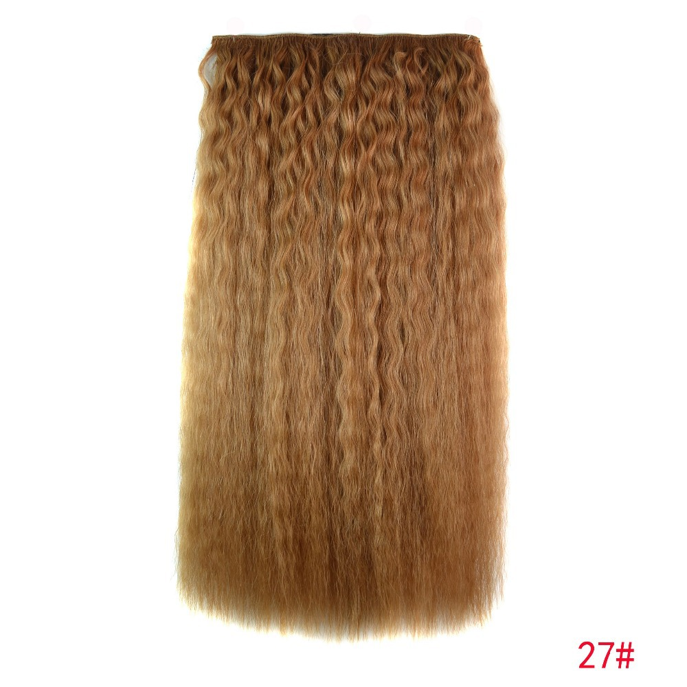Real Hair 1pc 20''/50cm 115g 5clips hair extension loose blended hair extension5 clips in hair extension FREE SHIPPING