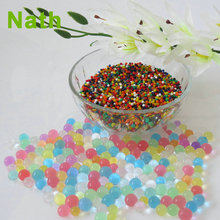 Wholesale plant decoration water gel beads round crystal soil magic water beads