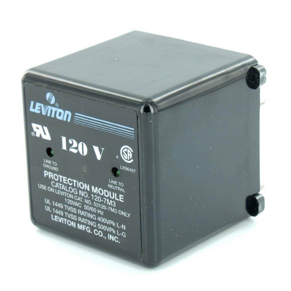 Leviton 120-7M3 120 VAC, 50/60 Hz Max, Continuous Voltage 150 VAC, Transient Voltage Surge Suppression Module, Replacement Panel Protection System