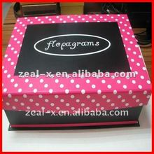 2012 hot sale printed paper gift packaging folding box