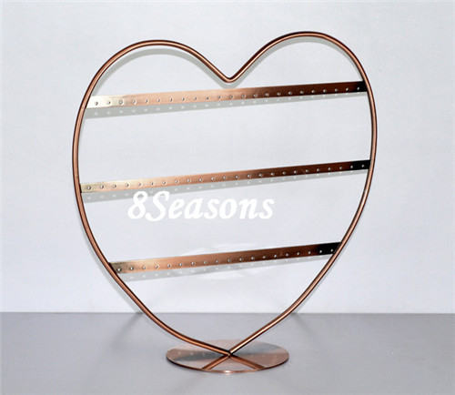 High Quality 66-Hole Heart Shaped Earrings Jewelry Display Stand Holder
