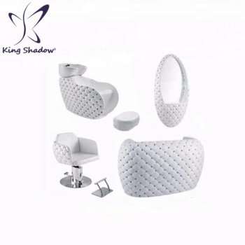 Kingshadow cheap beauty salon furniture white sets barber chair for sale 5% OFF