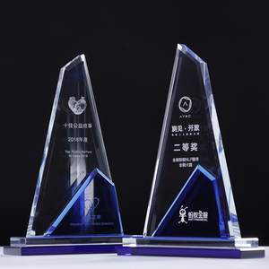 ODM/OEM Wholesale crystal acrylic trophy award acrylic plaque crystal colorful engraving awards and trophies