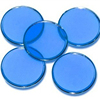 Customized 3/4inch 1mm thick acrylic translucent blue bingo