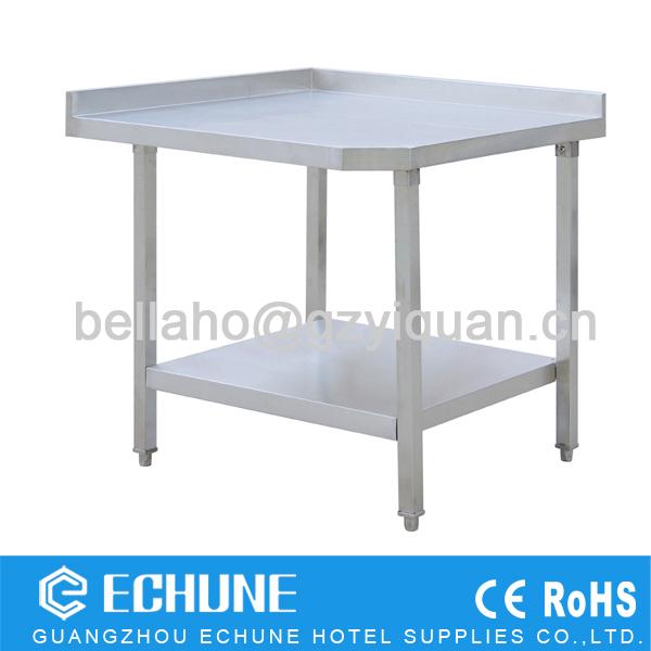 Elegant Stainless Steel Kitchen Corner Work Table /Restaurant Kitchen Bench