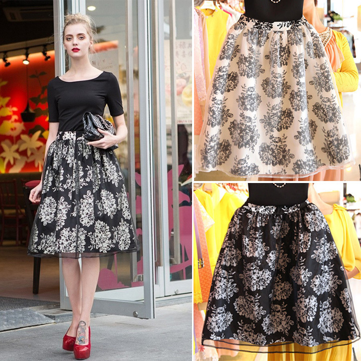 New Summer Women Tutu Bubble Long Floral Skirts Sv004929 - Buy ...