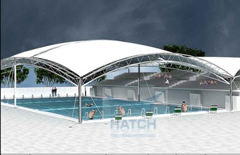 Swimming Pool Canopy / Shade Structure - Buy Custom Designed Canopy Or  Shade Structure For Swimming Pools For Product on Alibaba.com