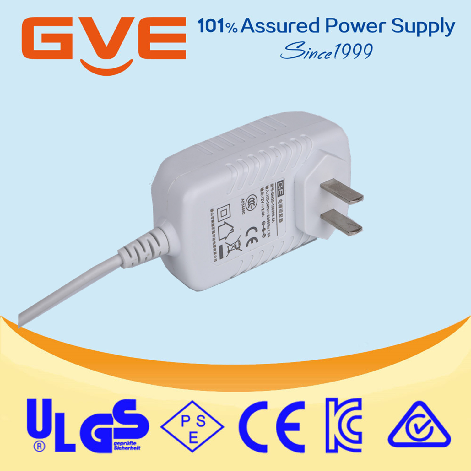 High efficiency 12.6v 2a wall universal travel charger