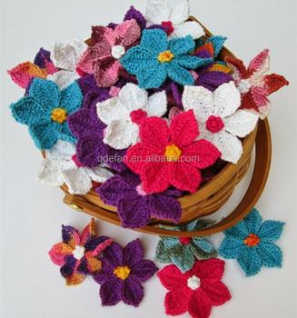 Moda Crochet Apliques Patrones De FloresGanchillo Ramillete Buy