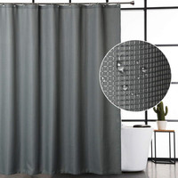 Waffle Fabric Shower Curtain for Bathroom, Water Repellent Modern Waffle Shower Curtain Mildew Resistant