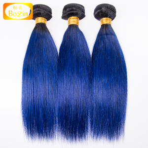 High quality mongolian body wave 100% virgin hair bundles popular 1b blue color