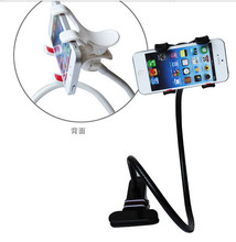 New Long Arm Lazy Phone Double Clips Flexible Holder Bracket Stander For iPhone HTC Samsung LG All CellPhones