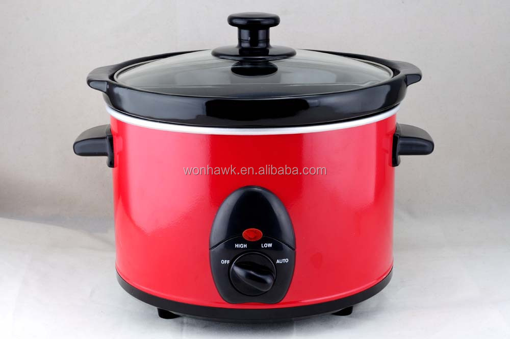 NSC-15 1.5qt Red Round Slow Cooker