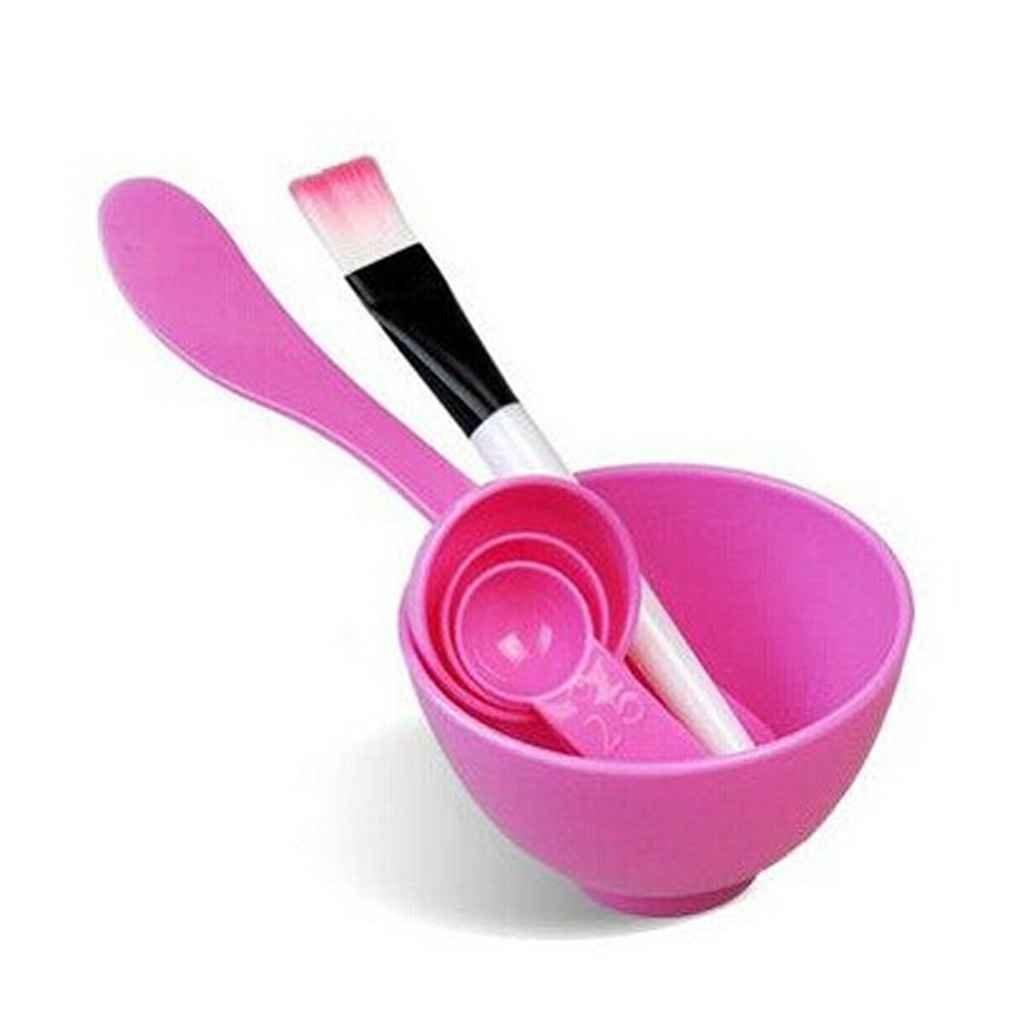 Facial DIY Mask Bowl Brush Spoon Tools Set Mixing Tool Kit with Mask Bowl Facial DIY Skin Care Mask Mixing Bowl Stick Brush?Random Color) Xuanhemen