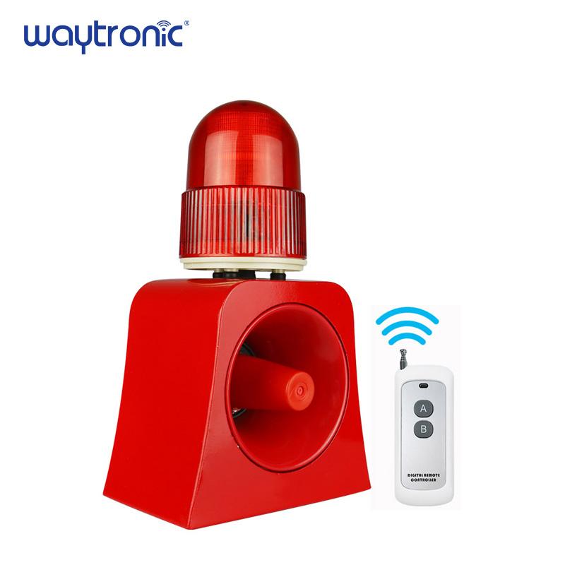 100m Wireless Remote Control Horn Siren And Strobe Light