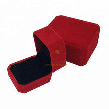 Customize Wholesale Velvet Flocked Ring Box Necklace Pendant Jewelry Boxes