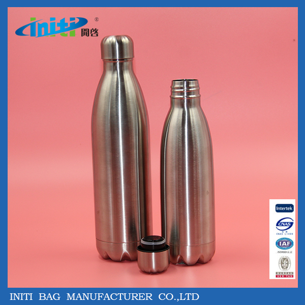 Double Wall Vacuum Stainless Steel Water Bottle with Sport Screw Cap