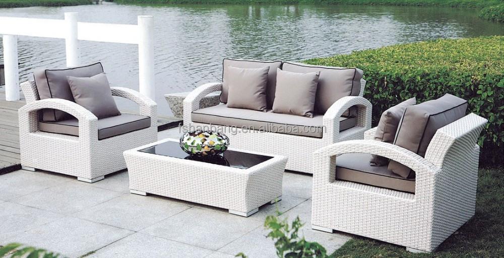 Bianco poli divani in rattan da giardino rattan vimini - Divano in vimini ...