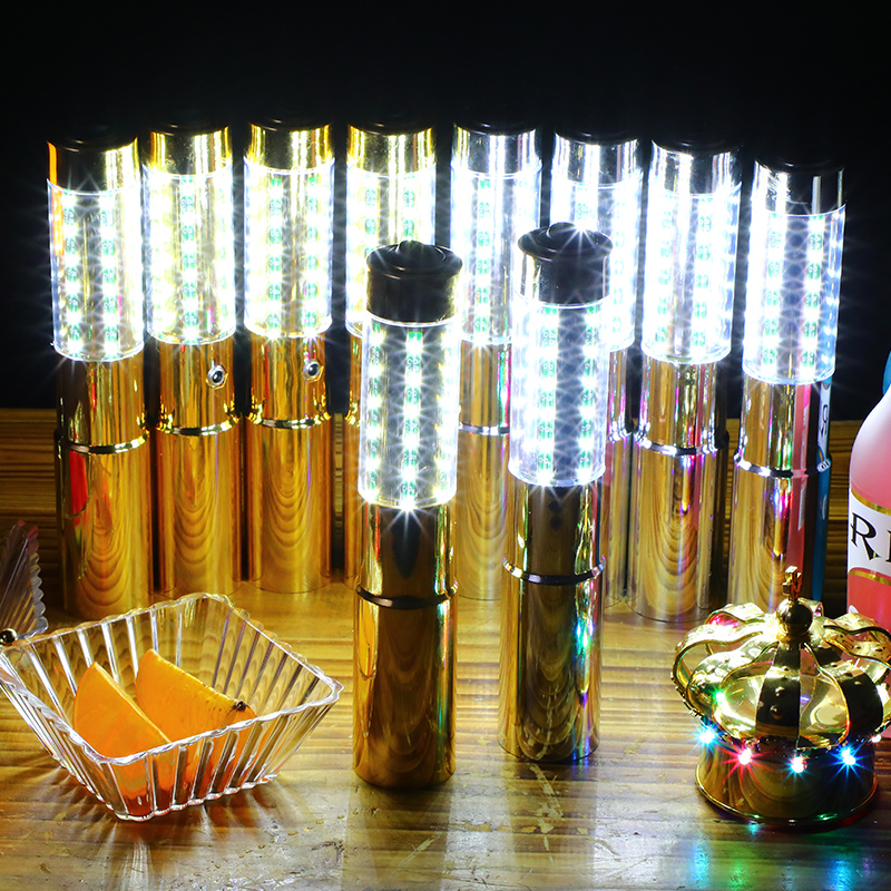 LED STROBE BATON TOPPER VIP Champagnerflaschen-Service Wunderkerzen für die Night Club Party Lounge Pub Bar
