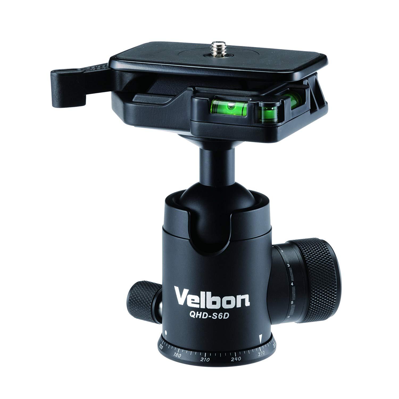 Velbon QHD-S6D Aluminum Ball Head with Quick Release Plate (QB-62)