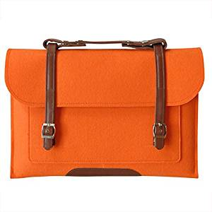 "SODIAL(R)Wool Felt Notebook Laptop Bag For MacBook Air Pro 15 ""orange"