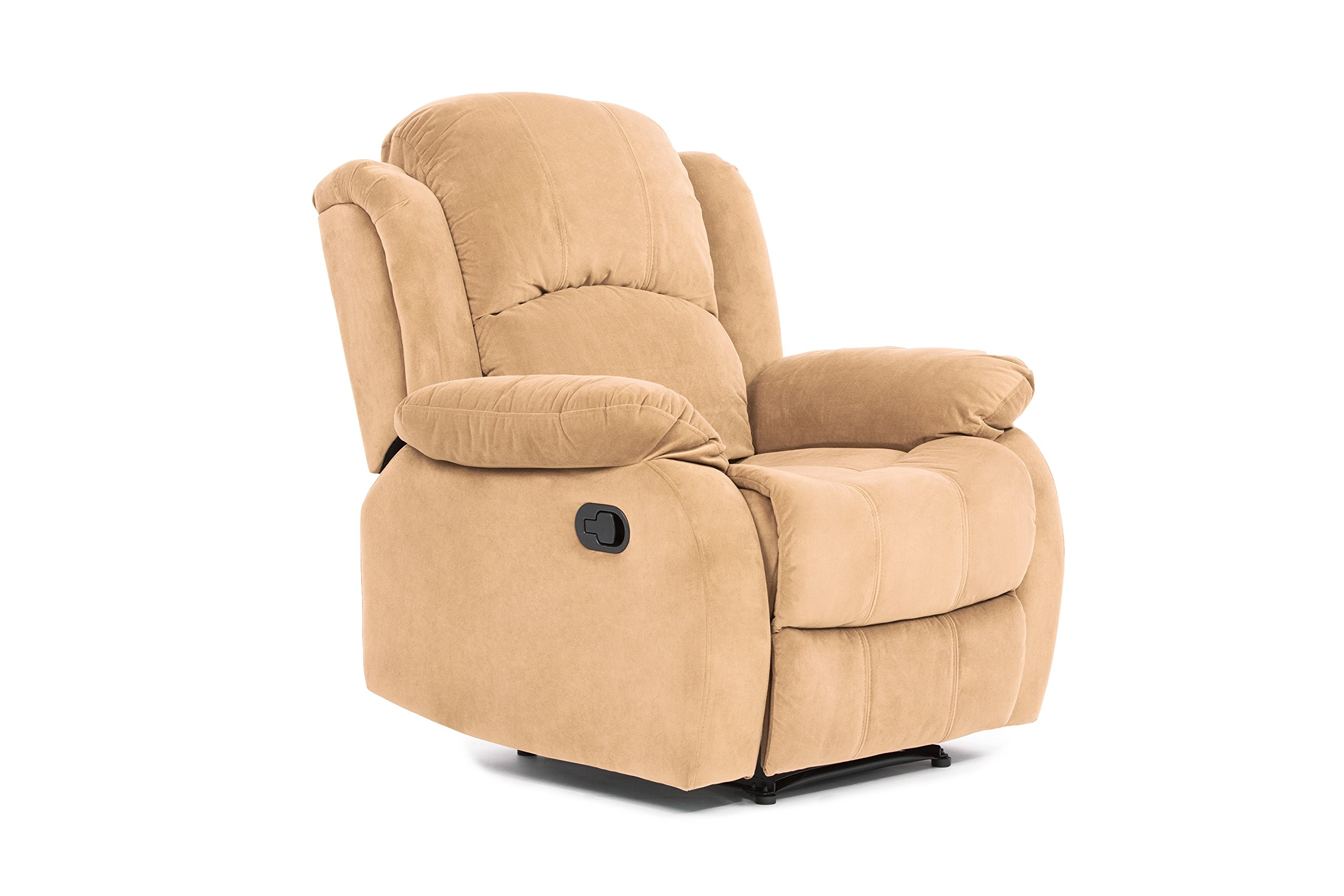 Classic and Traditional Brush Microfiber Recliner Chair, Love Seat, Sofa Size - 1 Seater, 2 Seater, 3 Seater Set (1 Seater)