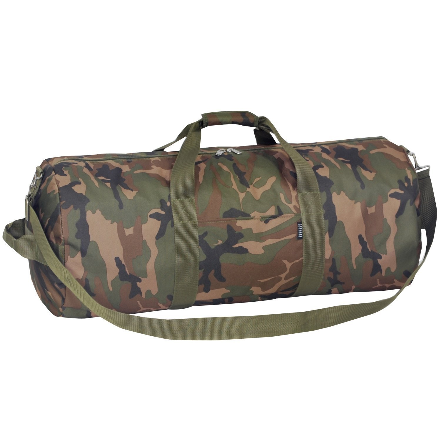 Boys Green Camouflage Theme Carry Oversize Duffle Bag, Kids Travel Luggage, Handle, Army, Lightweight, Hunting Military Pattern Duffel, Fashionable, Shoulder Strap Duffel, Camo