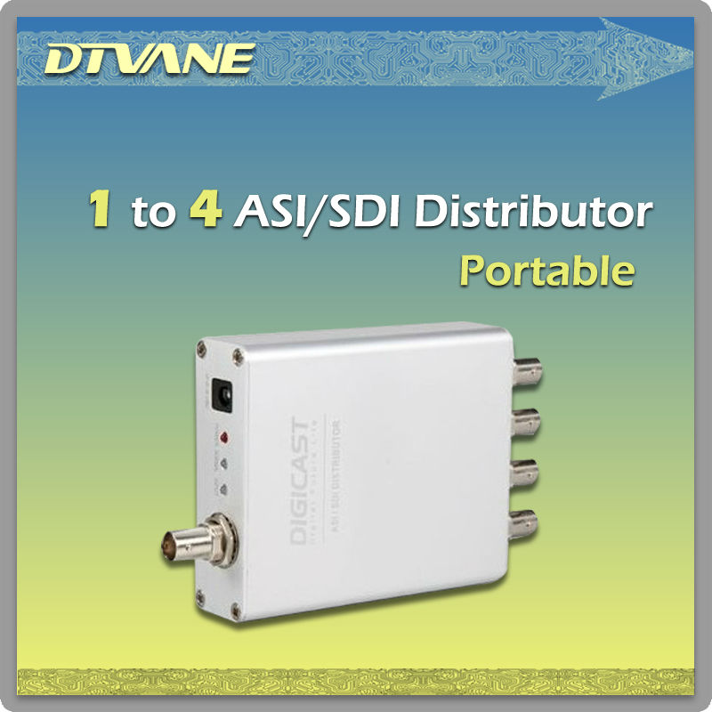 Portable ASI / SDI to 4 ASI or SDI (TSD-1004) distributor