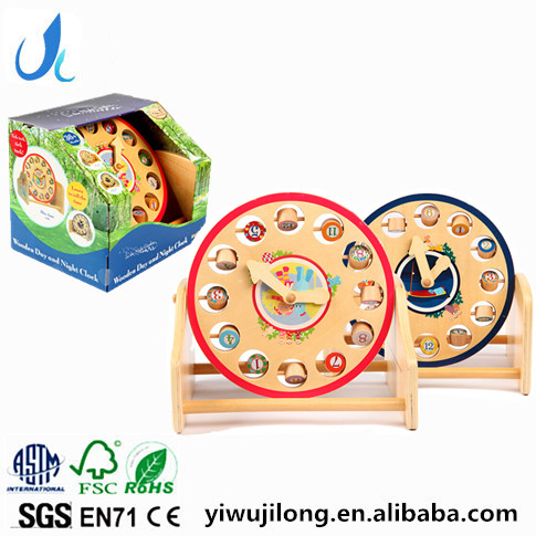 Wooden the Night Garden series baby cognitive alphanumeric clock wooden educational toys